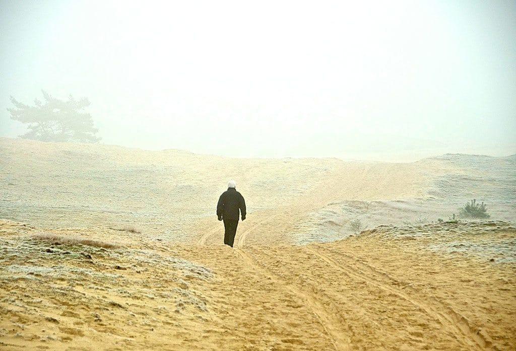 goudsberg-wandelaar-op-de-wekersomse-zand