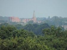 Uitzicht van de Oude kerk Barneveld gezien vanaf De Hessenhut