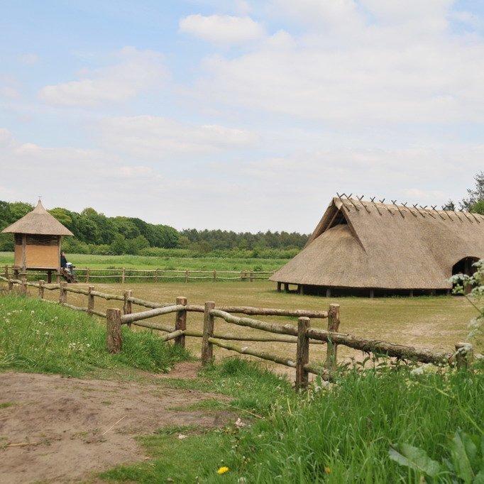 Ijzertijdboerderij Middelpunt van Nederland Goudsberg Lunteren