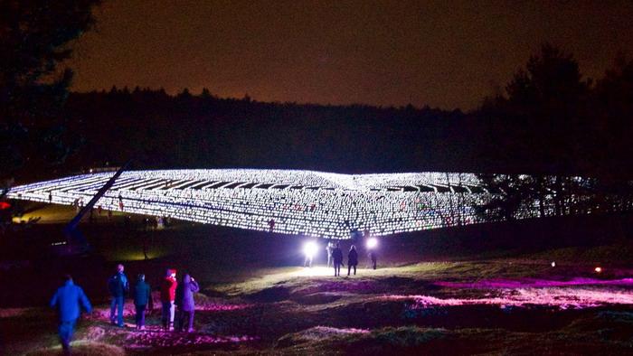 KWF Lampionnenactie in de tuin van Paleis Soestdijk