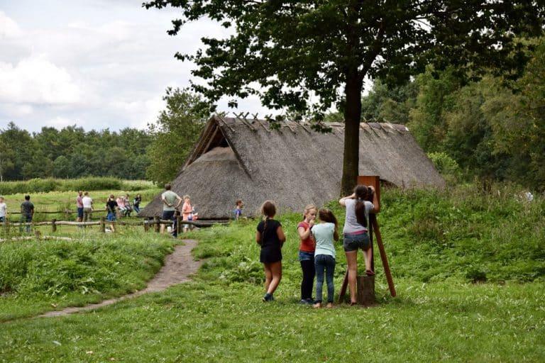 GLK Donateurs bezoeken Goudsberg, Middelpunt van Nederland